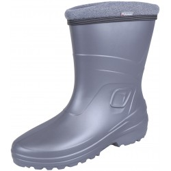 Grey, insulated wellingtons for women LUCY