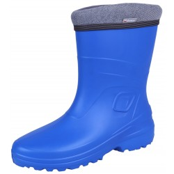 Blue, insulated wellingtons for women LUCY