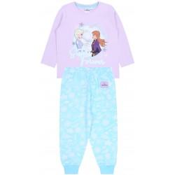 Fioletowo-niebieska, dziewczęca  piżama Frozen Kraina Lodu
