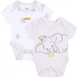 2x Beżowe body niemowlęce Dumbo Disney