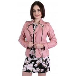 Różowa, skórzana kurtka PRIMARK ATMOSPHERE