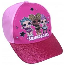 Dziewczęca,różowa czapka z brokatowym daszkiem L.O.L.Surprise!