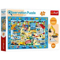 Puzzle obserwacyjne 70 elementów-Odwiedzamy plac budowy TREFL