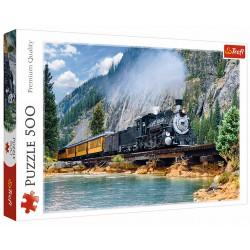 Puzzle 500 elementów-Górski pociąg TREFL