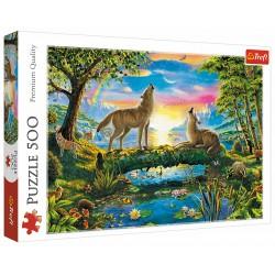 Puzzle 500 elementów-Wilcza natura TREFL