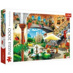 Puzzle 2000 elementów-Widok na Barcelone TREFL