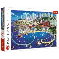 Puzzle 2000 elementów-Zatoka San Francisco TREFL