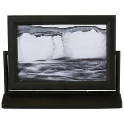 Obraz w formacie 10×15 cm oprawiony w ramę  plastikową z czarnym piaskiem