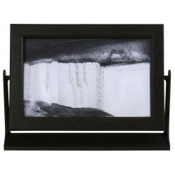 Obraz w formacie 15×21 cm, oprawiony w ramę  plastikową z czarnym piaskiem