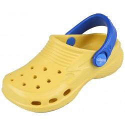 Żółto-niebieskie klapki croksy LEMIGO