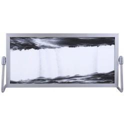 Obraz w formacie 14×29 cm, oprawiony w ramę  aluminiową   z podstawką wykonaną z metalu z czarnym piaskiem