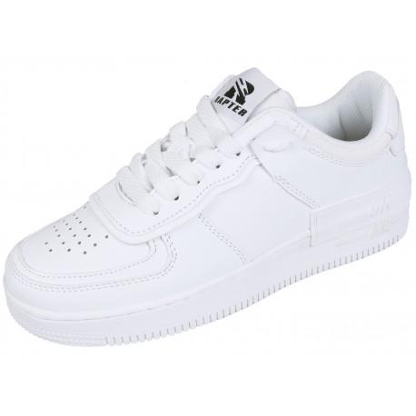 Białe sneakersy przed kostkę VICES