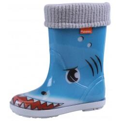 Ocieplane kalosze dziecięce rekin DEMAR