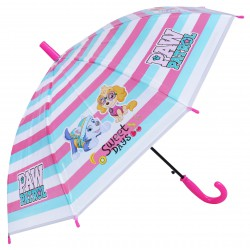 Parasolka dziecięca w  kolorowe pasy z motywem  Psi Patrol