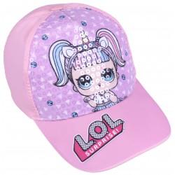 Dziecięca czapka z daszkiem z cekinowym przodem LOL