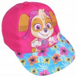 Różowa czapka z kwiatowym daszkiem i motywem SKYE Psi Patrol