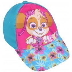 Turkusowo-różowa czapka z kwiatowym daszkiem i nadrukiem SKYE Psi Patrol