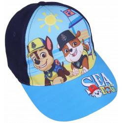 Granatowa czapka z błękitnym daszkiem z nadrukiem Paw Patrol
