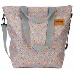 Szara  torba na ramię w drobne kwiatki HEAD
