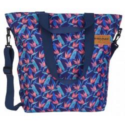Granatowa torba na ramię w tropikalny wzór HEAD