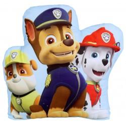 Jasnoniebieska poduszka kształtka z bohaterami Psi Patrol