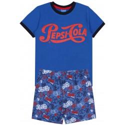 Granatowa dwuczęsciowa piżama z nadrukiem PEPSI COLA
