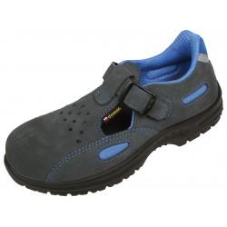 Męskie sandały ochronne ze skóry welurowej LEO S1 Demar