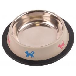 Metalowa miska na gumie dla psa 0,47l