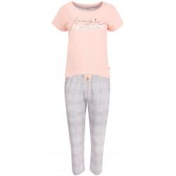 Dwuczęściowa piżama damska ze spodniami w kratę CORNETTE