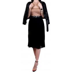 ASOS Czarna plisowana spódnica maxi