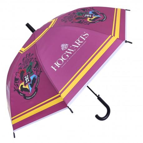Purpurowa parasolka automatyczna z nadrukami HARRY POTTER
