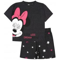 Grafitowa, melanżowa piżama na krótki rękaw z motywem Myszki Minnie DISNEY