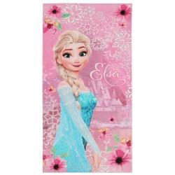 KRAINA LODU Różowy bawełniany ręcznik z wizerunkiem Elsy