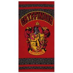 Ręcznik plażowy z herbem Gryffindoru HARRY POTTER, posiada certyfikat OEKO-TEX