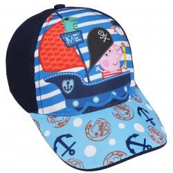 Granatowa czapka z daszkiem dla chłopca Świnka Peppa