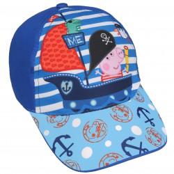 Niebieska czapka z daszkiem dla chłopca Świnka Peppa