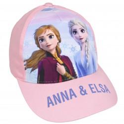 Jasnoróżowa czapka z daszkiem Anna i Elsa FROZEN