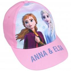 Różowa czapka z daszkiem Anna i Elsa FROZEN