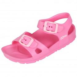 Jasnoróżowe, lekkie sandałki dla dziewczynek LEMIGO