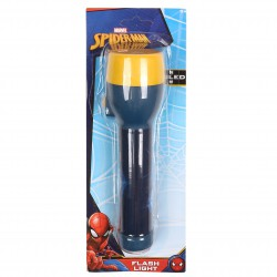 MARVEL SPIDERMAN Navy Yellow Torch Flashlight Kids LED
