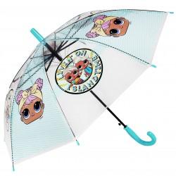 Turkusowo-przezroczysta parasolka LOL Surprise