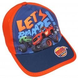 Pomarańczowa czapka z daszkiem dla chłopca BLAZE
