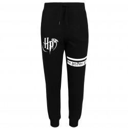 Czarne spodnie dresowe z białymi nadrukami HARRY POTTER