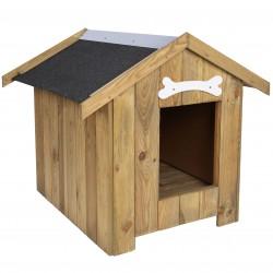 Drewniana, ocieplana buda dla psa 70 x 50 x 65 cm