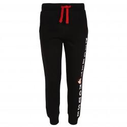 Czarne spodnie dresowe z napisem Myszka Mickey