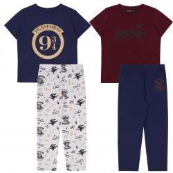 2x Granatowo-bordowa piżama chłopięca Harry Potter