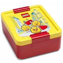 Czerwono-żółty lunchbox LEGO GIRL