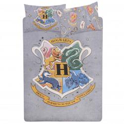 Szara zestaw pościeli 230x220cm Hogwart Harry Potter, certyfikat OEKO-TEX