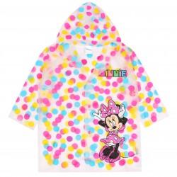 Transparentny płaszcz przeciwdeszczowy w kolorowe groszki Myszka Minnie DISNEY