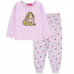 Liliowo-szara, polarowa piżama Roszpunka DISNEY